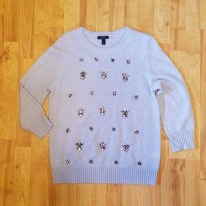 J CREW | jewel embellished mohair sweater